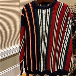 Ralph Lauren Chaps stripe men's XL sweater NWT